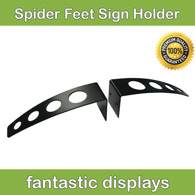 Heavy Duty Adjustable Sign Board Display Holder Wide Based Stand for Retail Sign