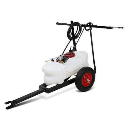 60L ATV Garden Weed Sprayer Pump Tank Chemical Spray Boom Spot Wand with Trailer