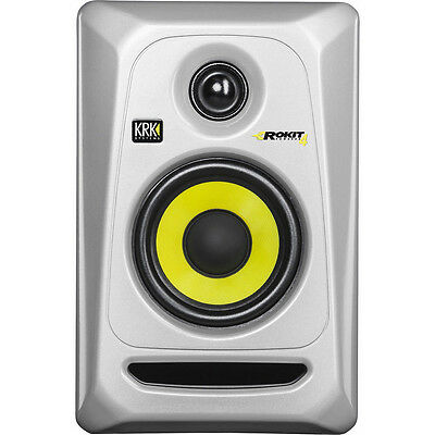 "KRK Rokit 4G3 Silver Generation 3 Active 4"" Powered Studio RP4G3S - Silver"