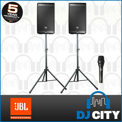 PK-EON610 JBL 10-Inch Active Speaker Pack with Speaker Stands - DJ City Austr...