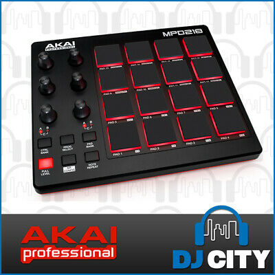 MPD218 Akai MIDI Pad Controller 16 MPC Style Pads Perfect for Studio Producti...