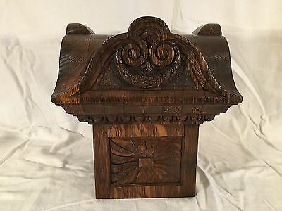 The Best Quarter Sawn Oak Carved Newel Post Top Victorian