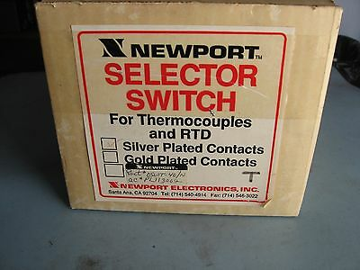 Newport Silver OSWGT-40-PG/N THERMOCOUPLE SELECTOR SWITCH 3 POLE 24 Contacts