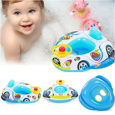 Baby Swimming Inflatable Pool Ring Child Laps Swim Seat Funny Speaking Boat