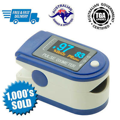 CONTEC CMS50D Fingertip Pulse Oximeter Blood Oxygen SpO2 Monitor | Free Postage!