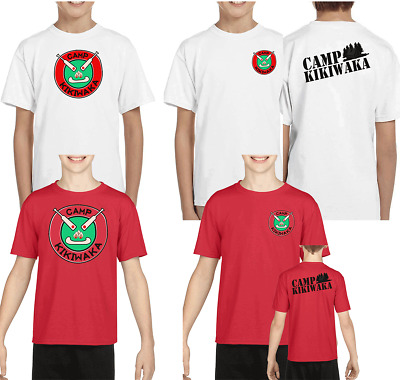 New kikiwaka camp bunk d youth red tshirt kid one/two side camping S-XL