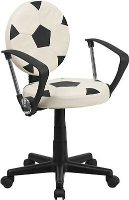 Flash Furniture BT-6177-SOC-A-GG Soccer Armchairs Task Chair with Arms,