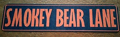 "U.s. Forest Service Smokey Bear Lane Mini Street Sign  3""x12"" All Weather Metal"