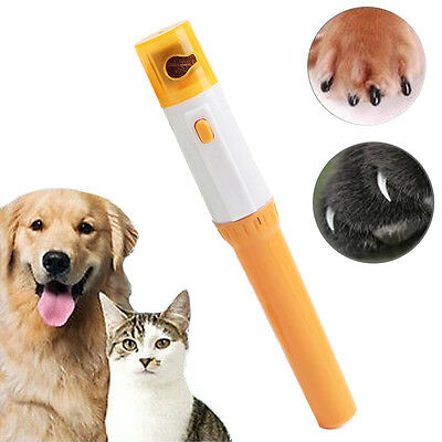 Electric Pet Nail Clipper Grinder Tool Dog Cat Paw Grooming Trimmer Care File