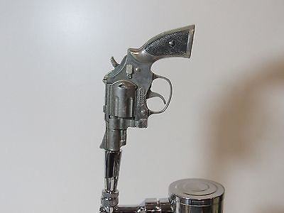 Vintage Metal Toy Gun Sports Bar Beer Tap Handle Brew Pistol Revolver Snubnose
