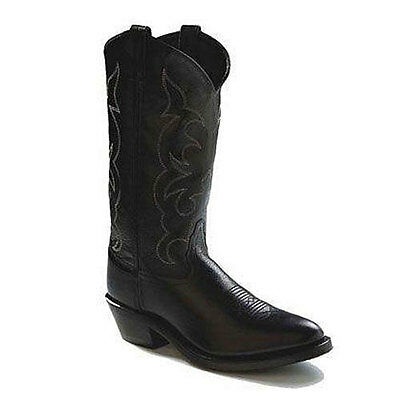 TBM3010 Old West Men's Pointed Toe Western Cowboy Boots - Black NEW