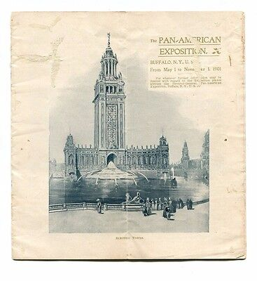 Vintage PAN-AMERICAN EXPOSITION Worlds Fair 1901 Buffalo pre-opening information