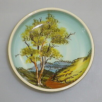 Guy Boyd Handpainted Shallow Bowl Is Decorated With A Landscape Scene