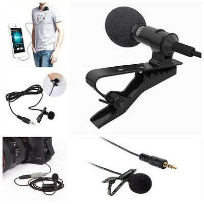 Audio Professional Microphone Mic Clip-on Lapel Lavalier Recording for Iphone PC
