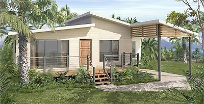 2 Bedroom retirement home- New Contruction Plans - Kit Home for owner builders