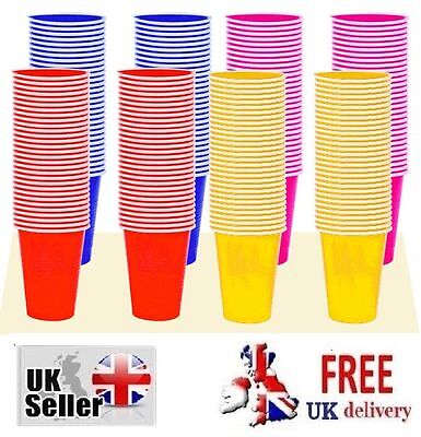 60pcs Disposable 170ml Cups Plastic Cup Cups Shot Colourful Bar Party cup UK