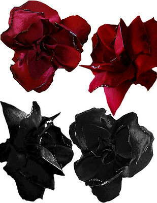 Hand Made Silk Taffeta Flowers (set of 5)