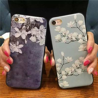 Ultra-thin Soft Rubber Silicone TPU Patterned Case Cover For iPhone 8 X 6 7 Plus