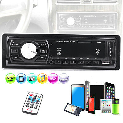 New! 1044 In Dash Car Stereo CD MP3/USB/SD Player AM/FM Receiver + Remote US