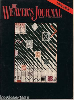 Weaver's Journal 44: name draft finnweave, mobius vest, sprang, loom maintenance