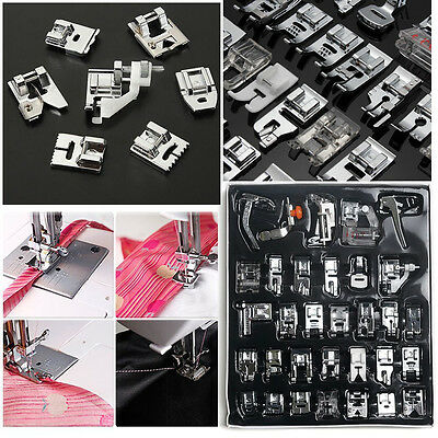 11/32/42pcs Domestic Sewing Machine Presser Foot Feet for Brother Singer Janome