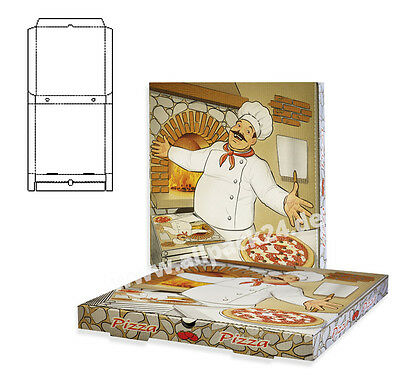 Pizzakarton 60x40x5 cm, 50 Stk , Pizzakarton, Pizzabox, Party, dolo