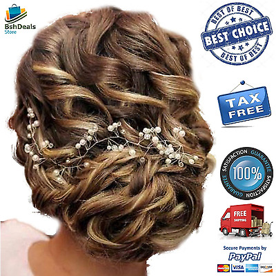 Crystals Bridal Wedding  Silver Headband Hair Vine And Headpiece Chain Best