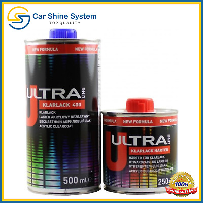 Acrylic Clearcoat Lacquer 2K 2:1 Scratch Resistant High Gloss SR 750ml KIT 0.75L