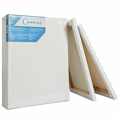 Painting Canvas Board Blank 11x14 Inch Set of 5 Stretched Artist Acrylic Primed