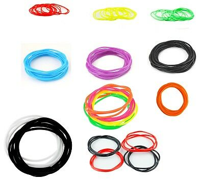 Girls Thin Neon Jelly Bracelet Gummy Bangle Rubber Goth Wristband various Color