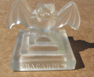 """bacardi"" Very Rare Advertising Piece Small ""glass Bat"""