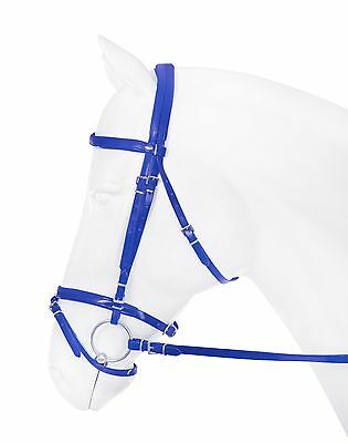 Horka Leather Look Synthetic Bridle With Reins *7 Colours* - All Sizes