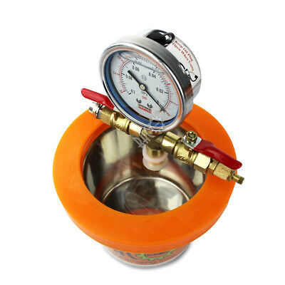 "BACOENG 1.2 Quart 4.5""(OD) × 4""(H) Stainless Steel Mini Degassing Vacuum Chamber"