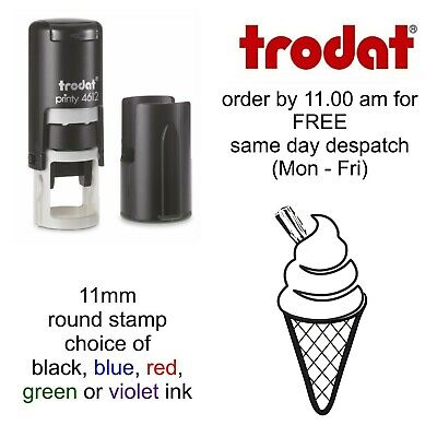 Ice Cream Loyalty Card Stamp Self Inking rubber stamp cafe school shop pub bar
