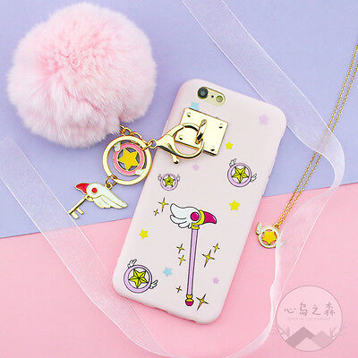 Cute Sailor Moon Magic Wand with 3D Doll Strap Soft Case For iPhoneX 6S 7 8 Plus