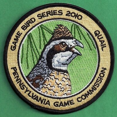 "Pa Pennsylvania Game Fish Commission NEW 2010 Bobwhite Quail Game Bird 4"" Patch"