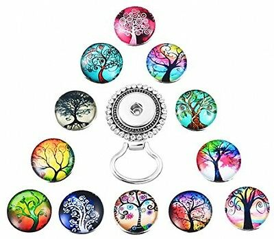 Tree Of Life Snap Button Centerpiece Eyeglass Glasses Holder Magnetic Brooch