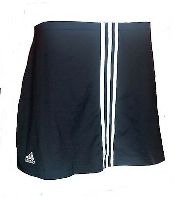 Womens LARGE / 16 18 ADIDAS 3S Skort BLACK Hockey Netball Tennis
