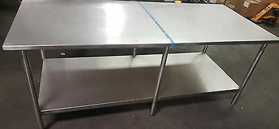 "John Boos Stainless Steel Commercial Work Prep Table 72"" x 30"""