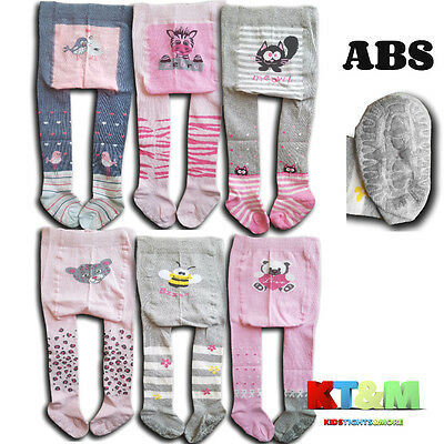 Girls Baby Toddler Cotton ABS Tights Anti slip Silicone Sole Size 6Months-3Years