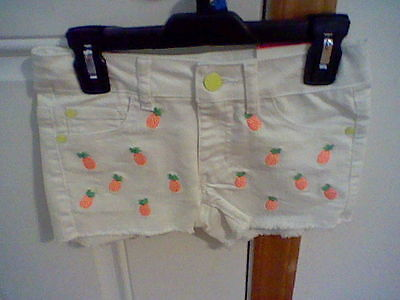 Brand New Girl's Size 7 Piper White Denim Shorts (Adjustable Waistband)