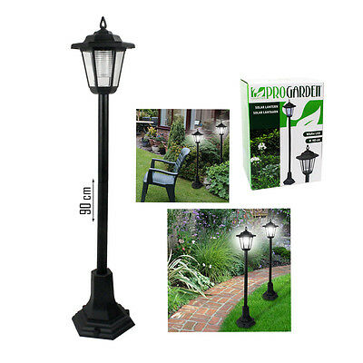 Solar Powered Garden Post Lampost Pathway Driveway Outdoor Led Lights Lantern