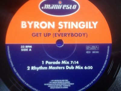 "Byron Stingly - Get Up Everybody - 97 House Classic !! 12"" Vinyl Record Dj"