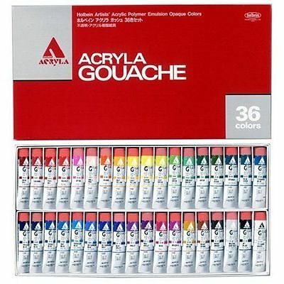Holbein Acryla Gouache 36 Colors Set  Opaque Acrylic Paints 20ml Tube Japan New