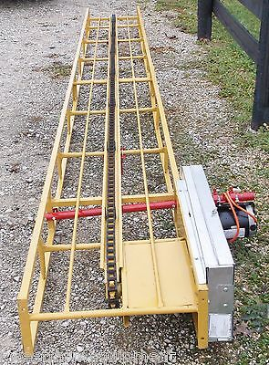 NEW 24 FT SQUARE HAY BALE ELEVATOR WITH NEW ELECTRIC  MOTOR *We Ship Cheap*