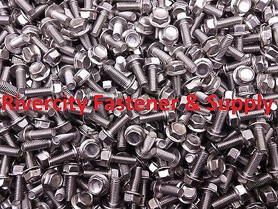 M6-1.0 x 25 M6x25 Hex Flange Bolts DIN 6921 6mm x 25mm Stainless Steel 50
