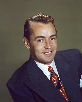 Alan Ladd handsome in suit rare vintage color portrait 8x10 Photo