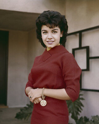 Annette Funicello smiling portrait 1960's in red dress 8x10 Photo