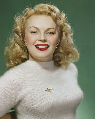June Haver 1940's rich color photo sweater girl pin up 8x10 Photo