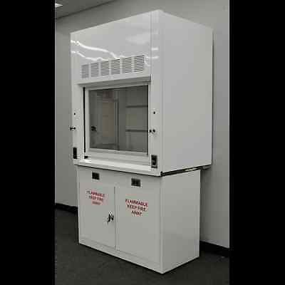 4' Laboratory Chemical  Fume Hood with Flammable Storage Cabinet NLS 402